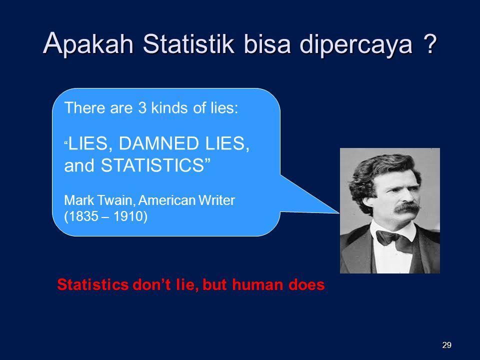 Apakah Statistik bisa dipercaya