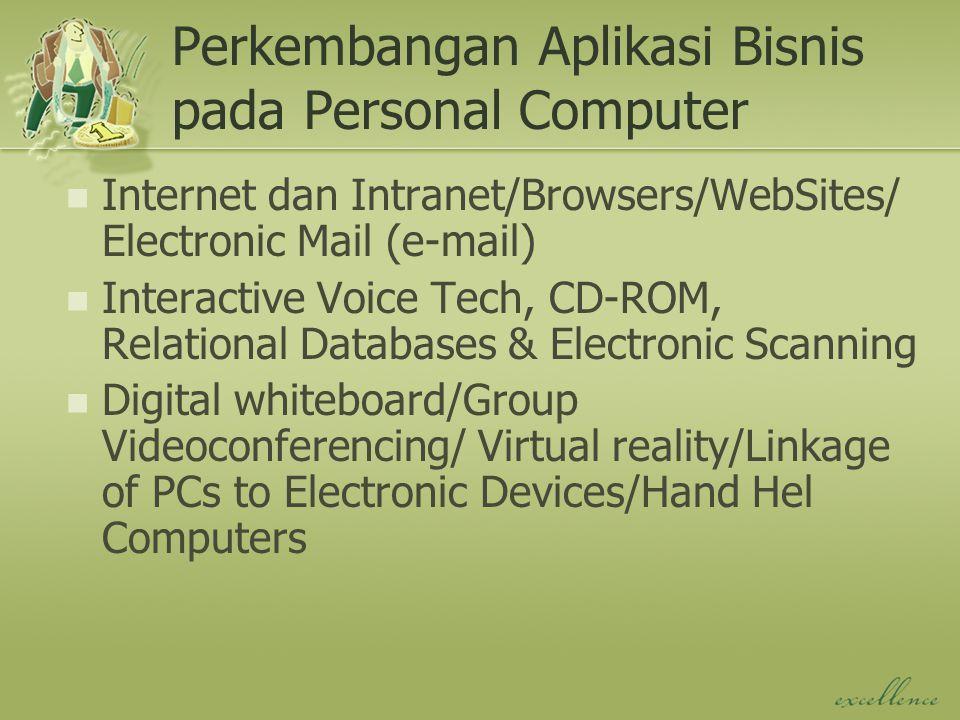 Perkembangan Aplikasi Bisnis pada Personal Computer