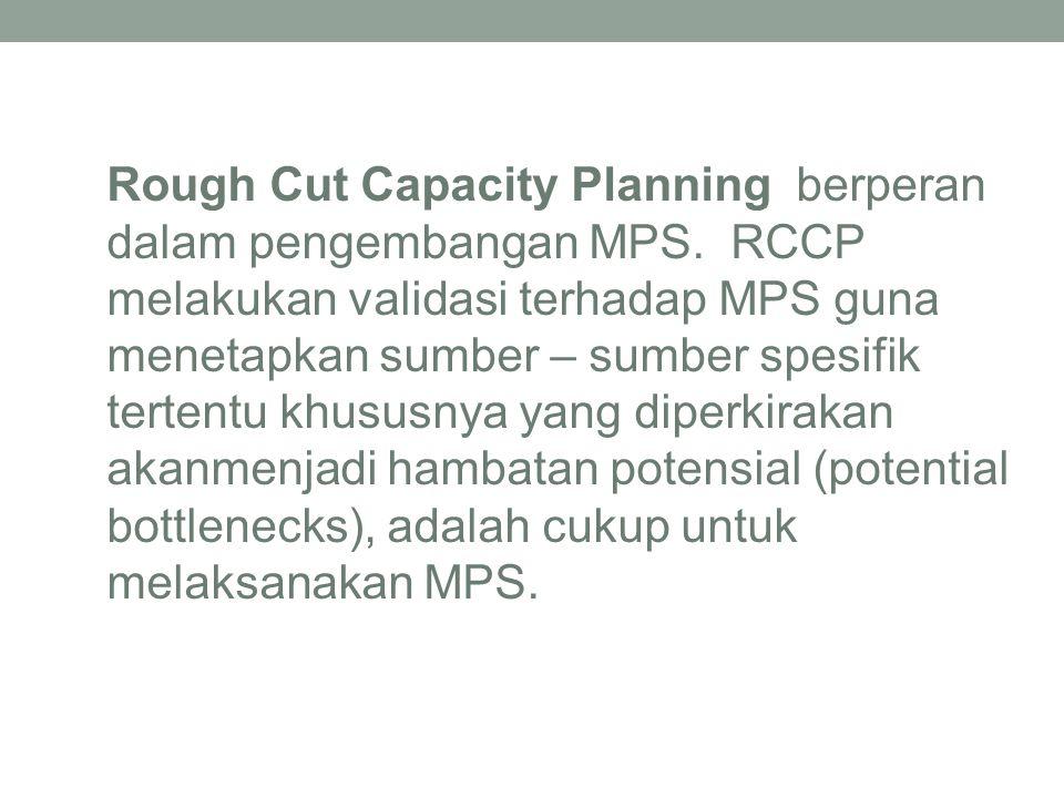 Rough Cut Capacity Planning berperan dalam pengembangan MPS