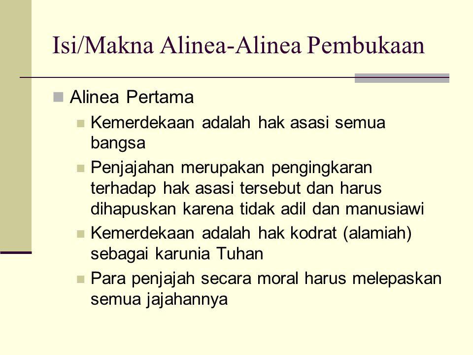Isi/Makna Alinea-Alinea Pembukaan