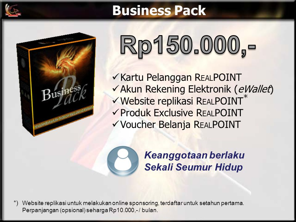 Rp150.000,- Business Pack Kartu Pelanggan REALPOINT