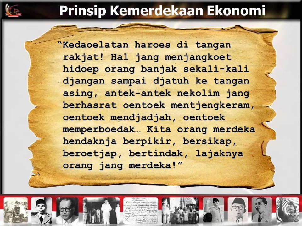 Prinsip Kemerdekaan Ekonomi