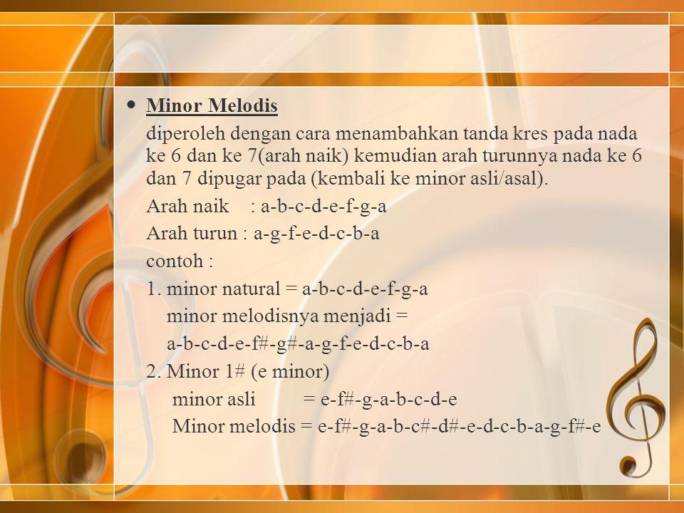 Minor Melodis