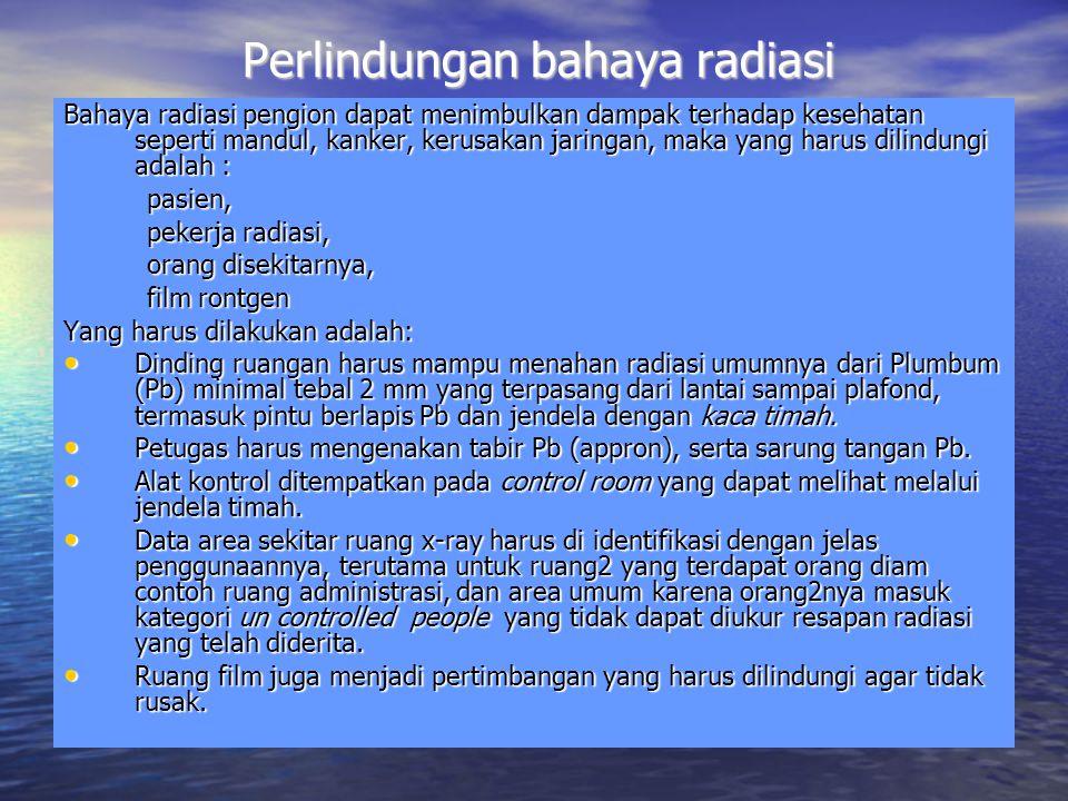 Perlindungan bahaya radiasi