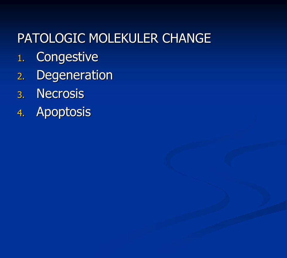 PATOLOGIC MOLEKULER CHANGE