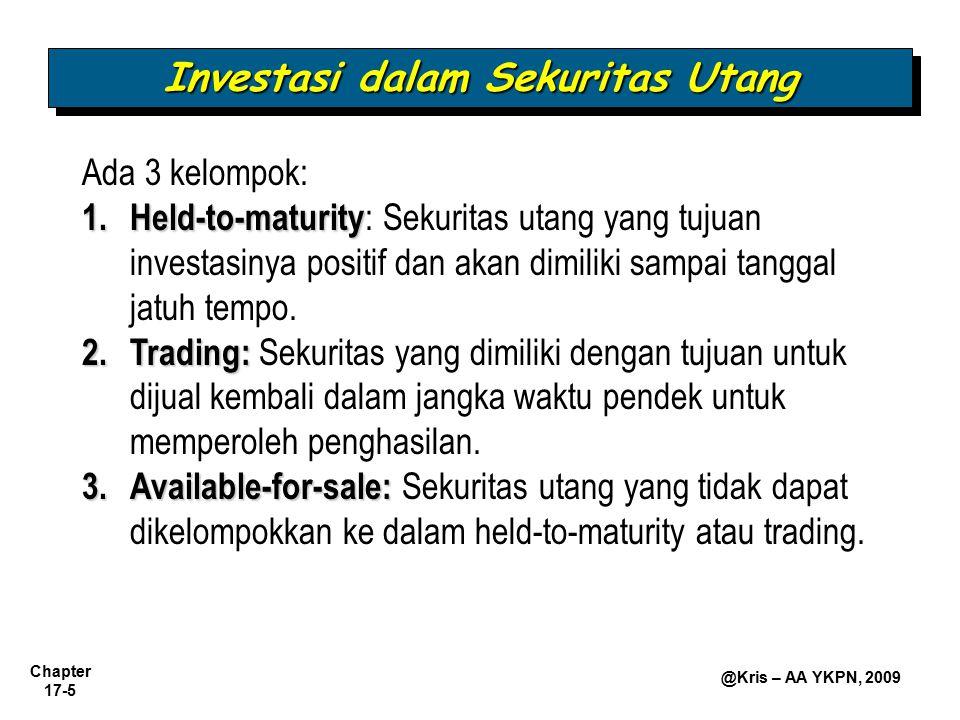 Investasi dalam Sekuritas Utang