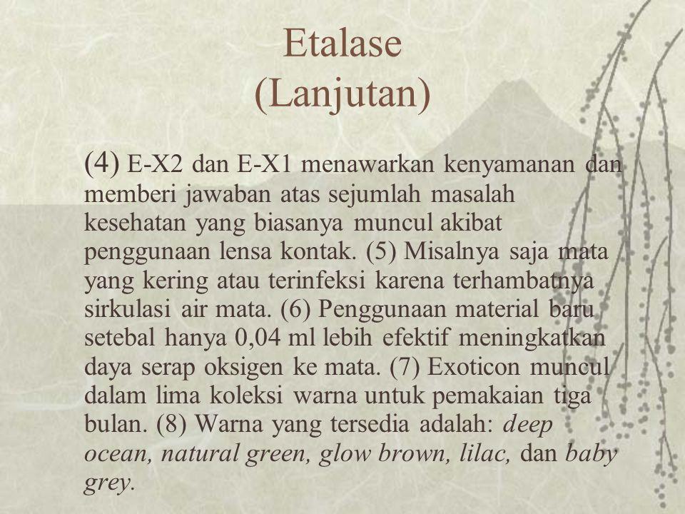 Etalase (Lanjutan)