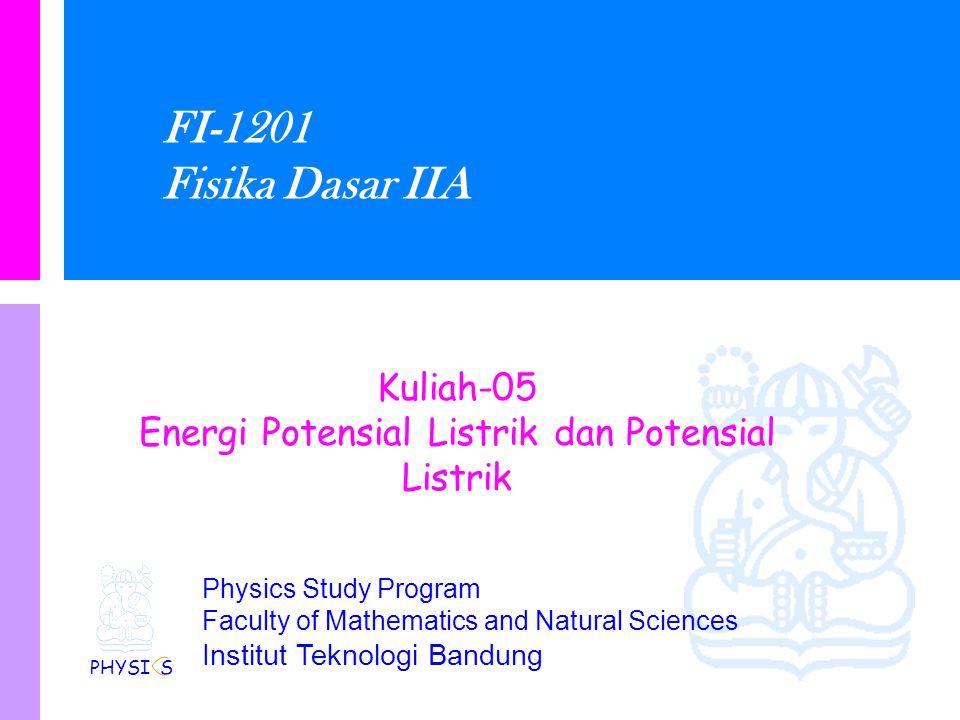 Energi Potensial Listrik dan Potensial Listrik
