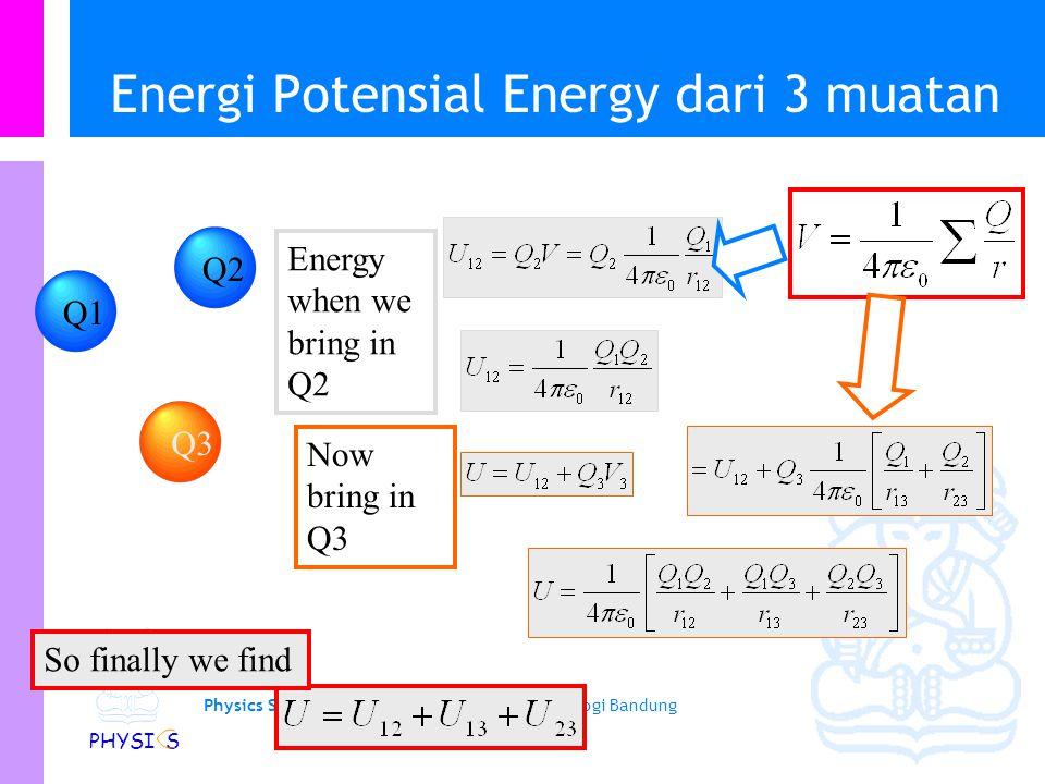 Energi Potensial Energy dari 3 muatan