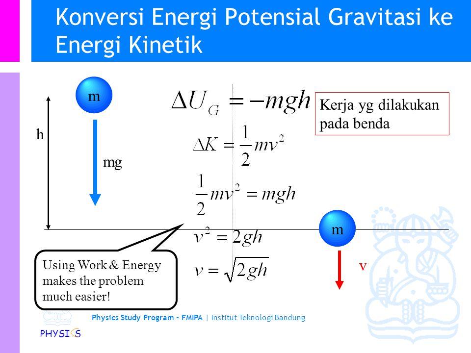 Konversi Energi Potensial Gravitasi ke Energi Kinetik