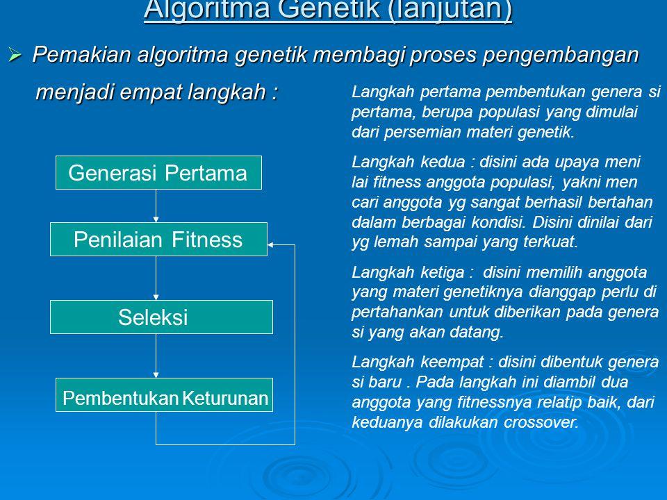 Algoritma Genetik (lanjutan)