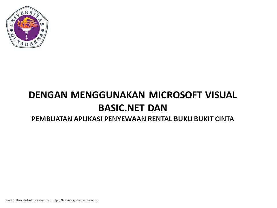 DENGAN MENGGUNAKAN MICROSOFT VISUAL BASIC