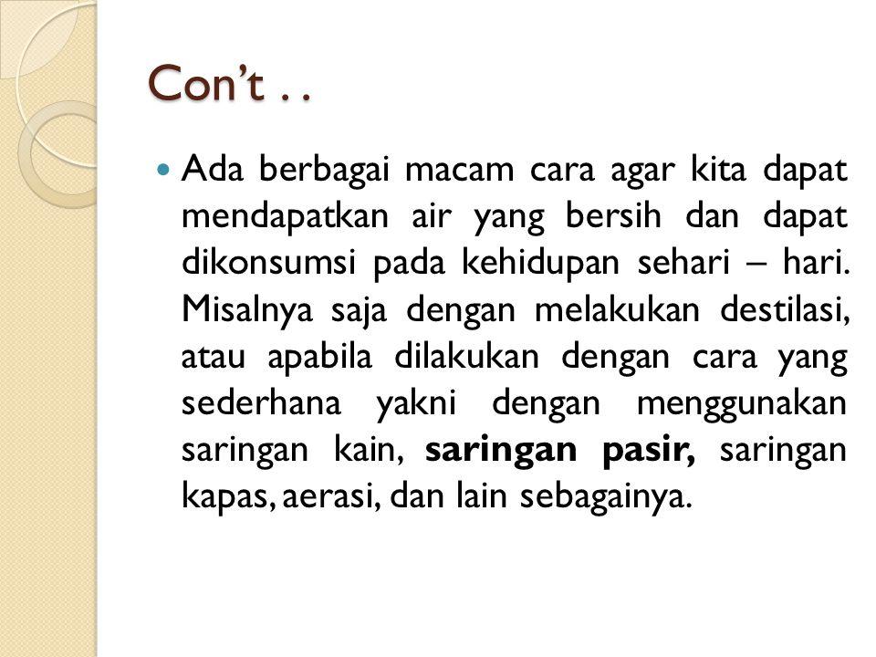 Con't . .
