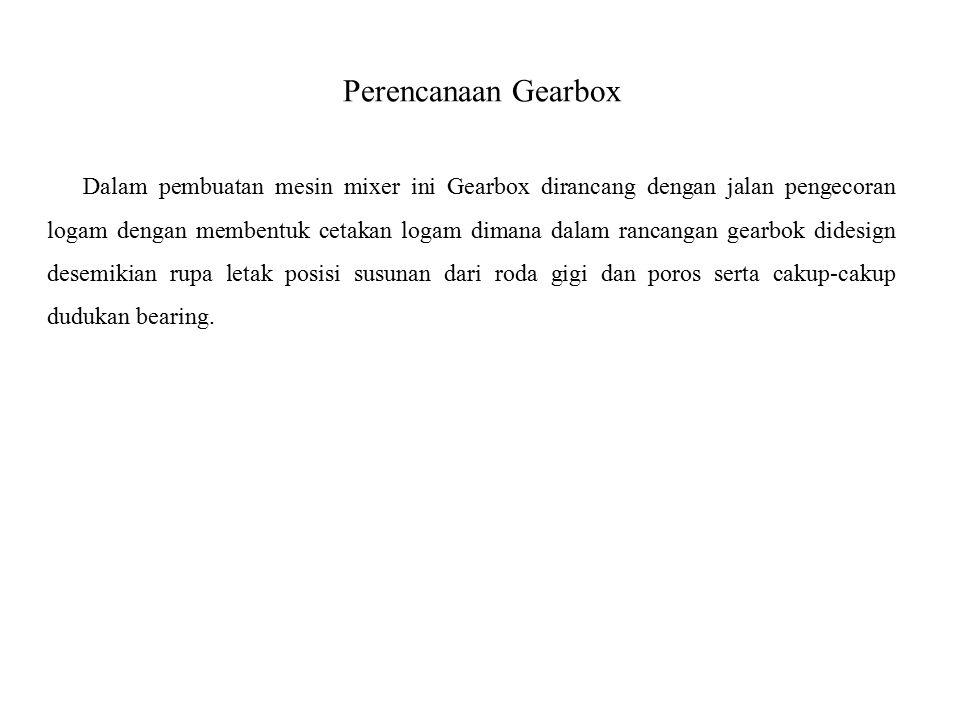 Perencanaan Gearbox