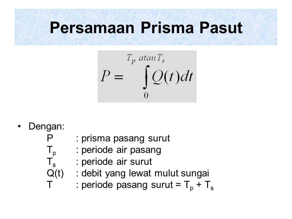 Persamaan Prisma Pasut