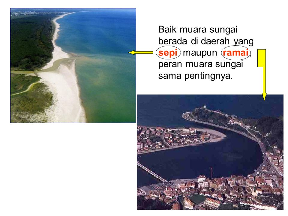 Baik muara sungai berada di daerah yang sepi maupun ramai, peran muara sungai sama pentingnya.