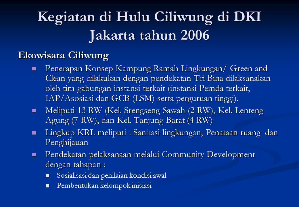 Kegiatan di Hulu Ciliwung di DKI Jakarta tahun 2006