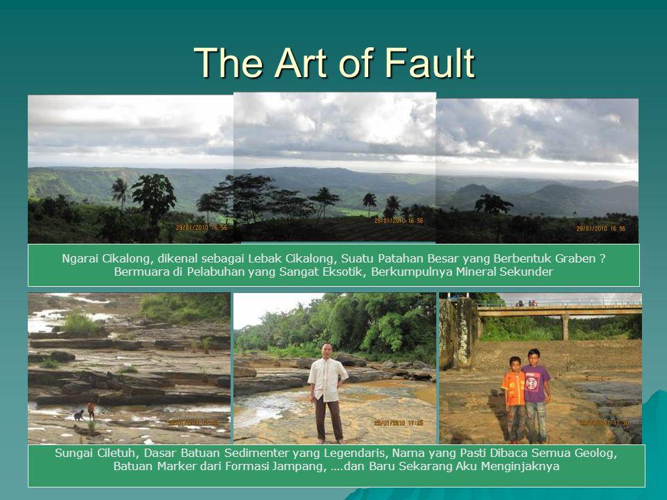 The Art of Fault Ngarai Cikalong, dikenal sebagai Lebak Cikalong, Suatu Patahan Besar yang Berbentuk Graben