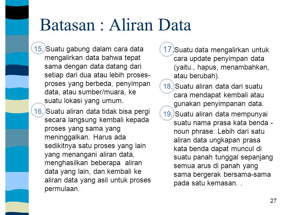 Batasan : Aliran Data