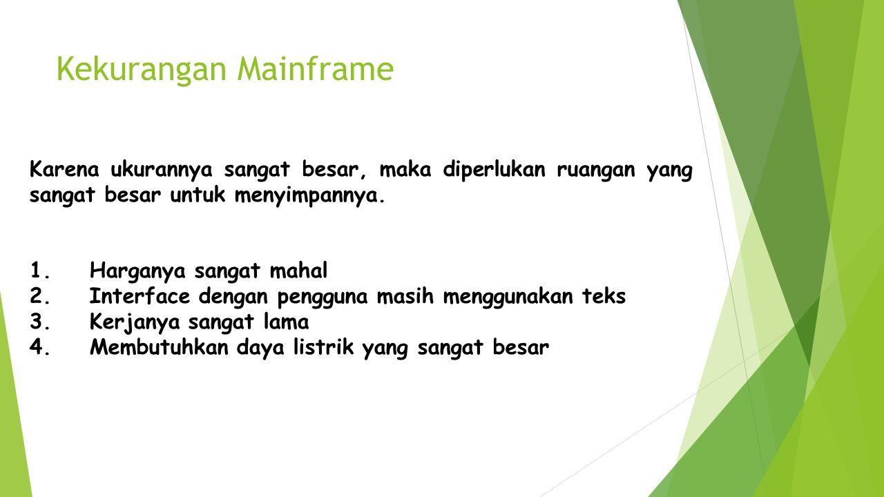 Kekurangan Mainframe