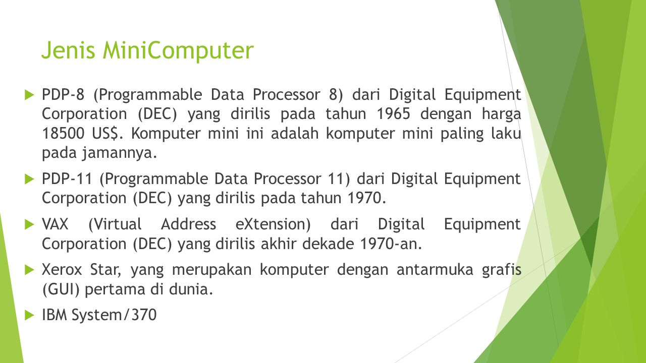Jenis MiniComputer