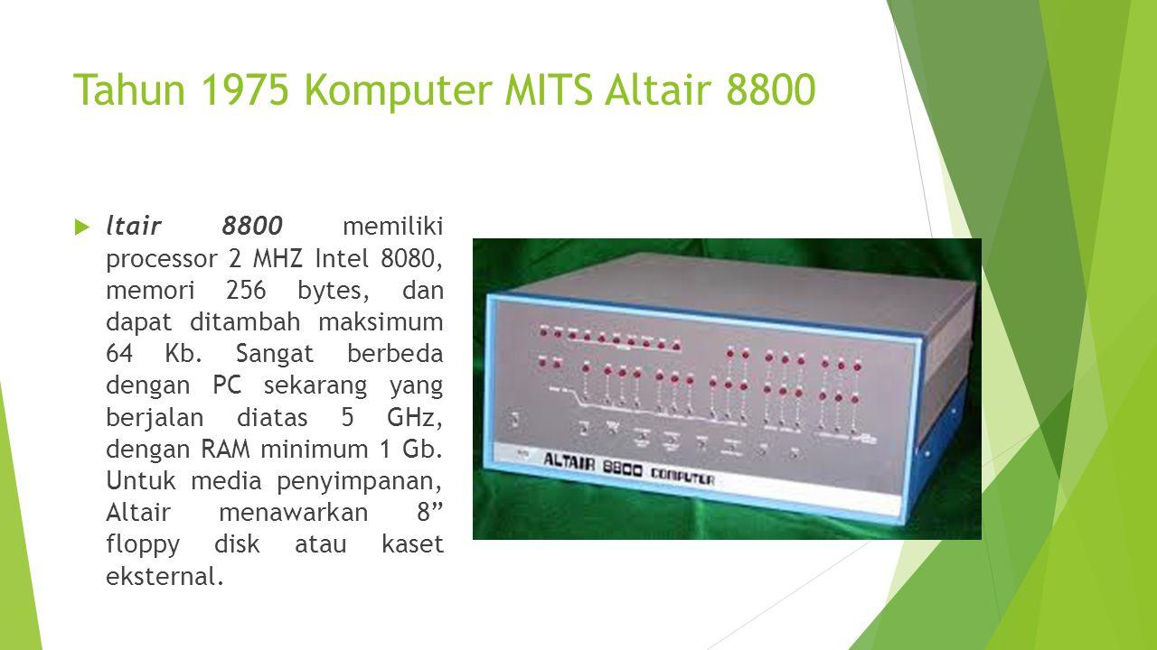 Tahun 1975 Komputer MITS Altair 8800