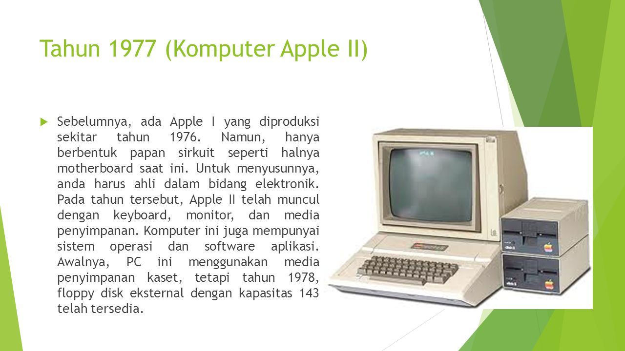 Tahun 1977 (Komputer Apple II)