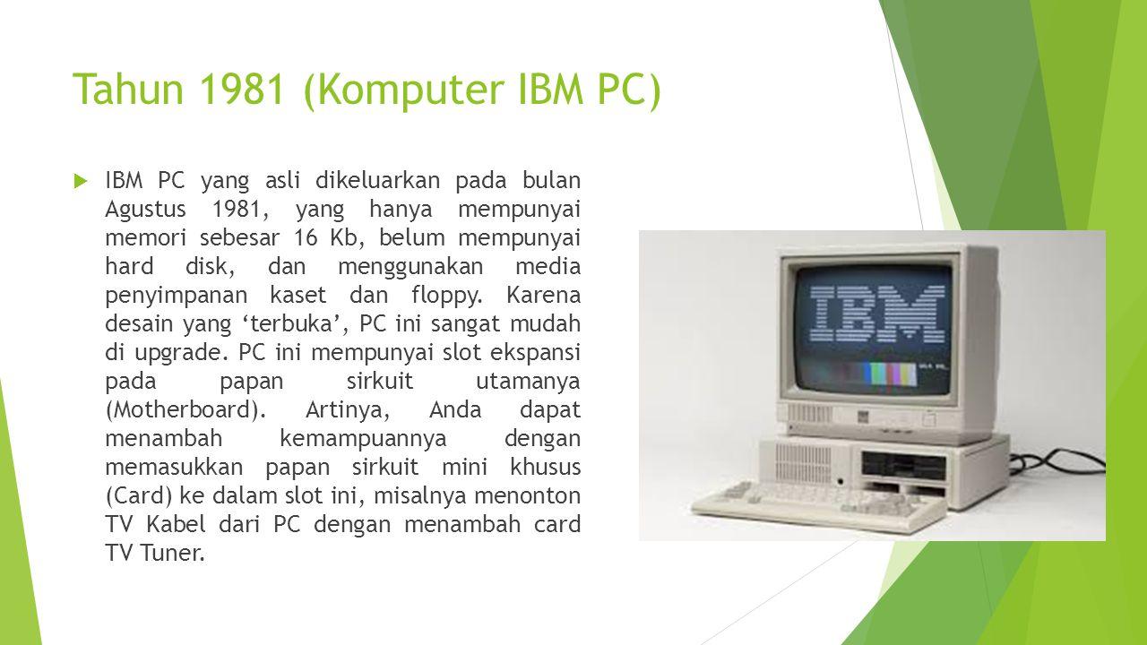 Tahun 1981 (Komputer IBM PC)