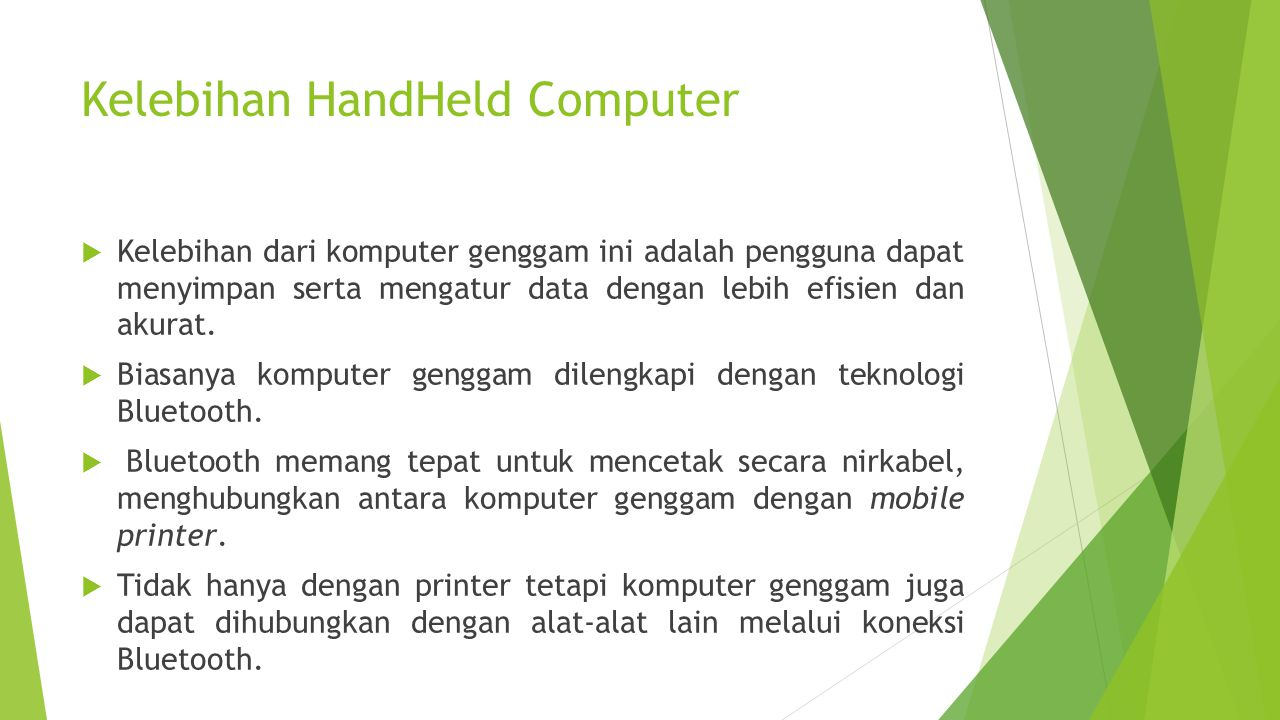 Kelebihan HandHeld Computer