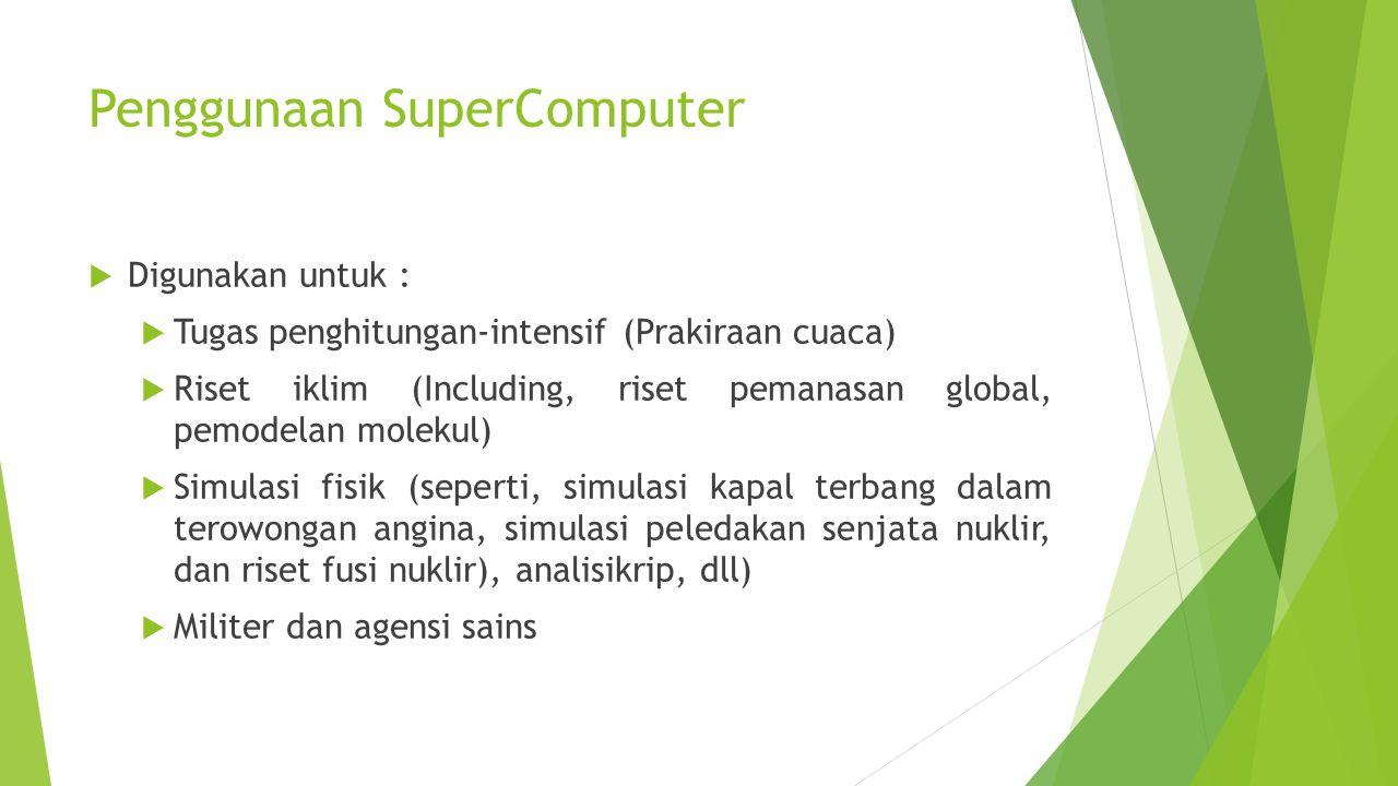 Penggunaan SuperComputer