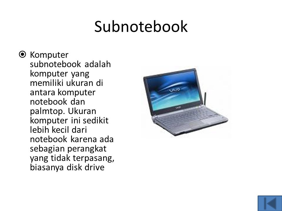 Subnotebook
