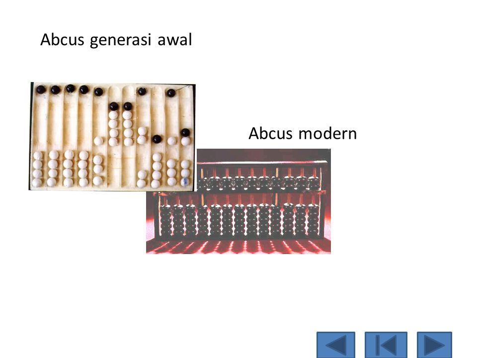 Abcus generasi awal Abcus modern