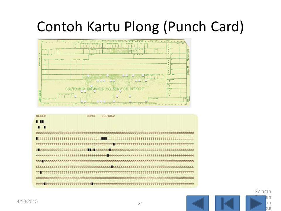 Contoh Kartu Plong (Punch Card)