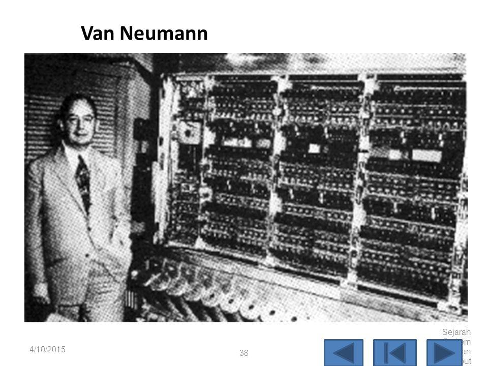 Van Neumann 4/10/2017 Sejarah Perkembangan Komputer