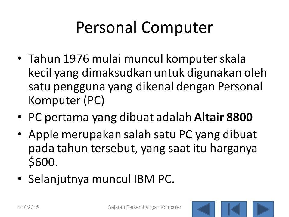 Sejarah Perkembangan Komputer