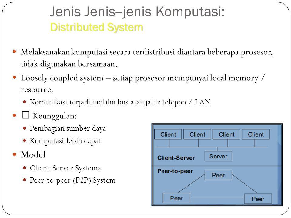 Jenis Jenis--jenis Komputasi: Distributed System