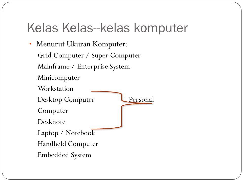 Kelas Kelas--kelas komputer