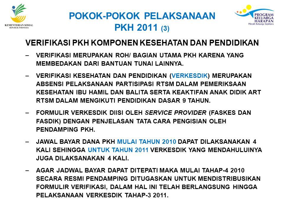 POKOK-POKOK PELAKSANAAN PKH 2011 (3)