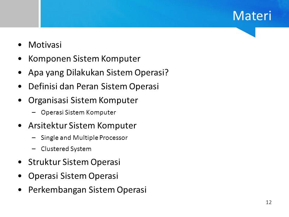 Materi Motivasi Komponen Sistem Komputer