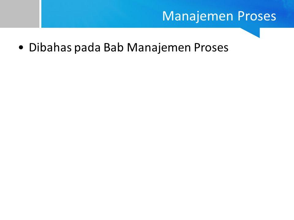 Manajemen Proses Dibahas pada Bab Manajemen Proses