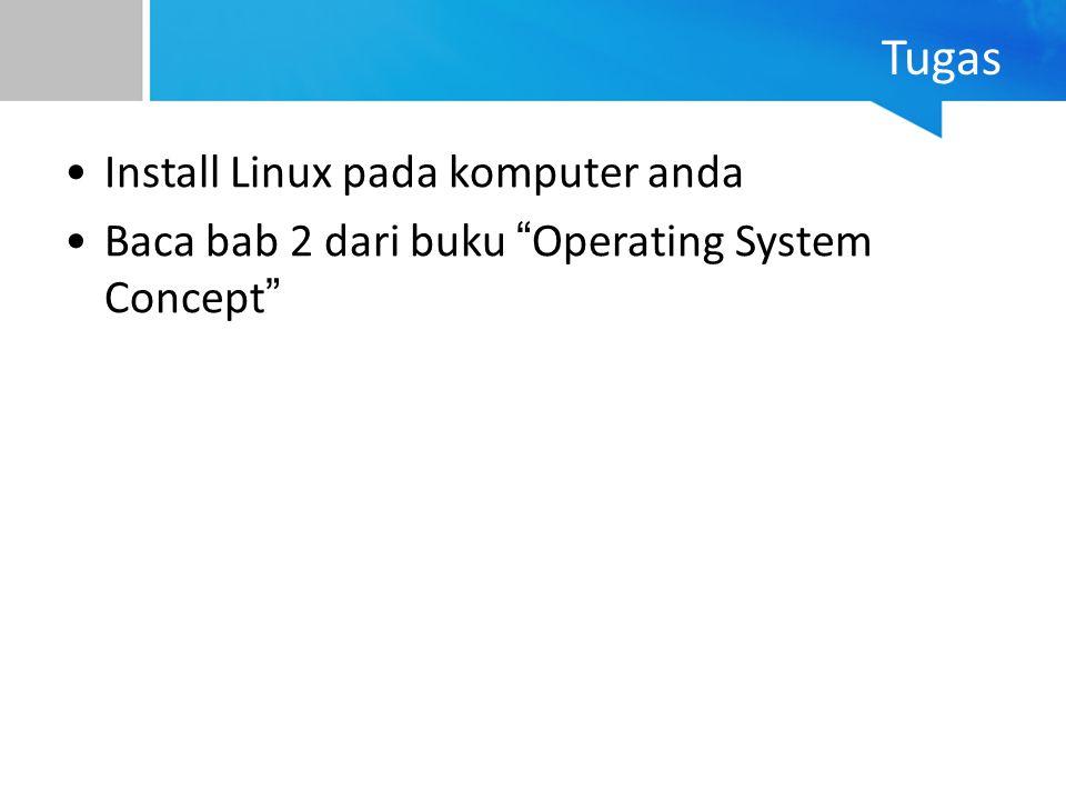 Tugas Install Linux pada komputer anda
