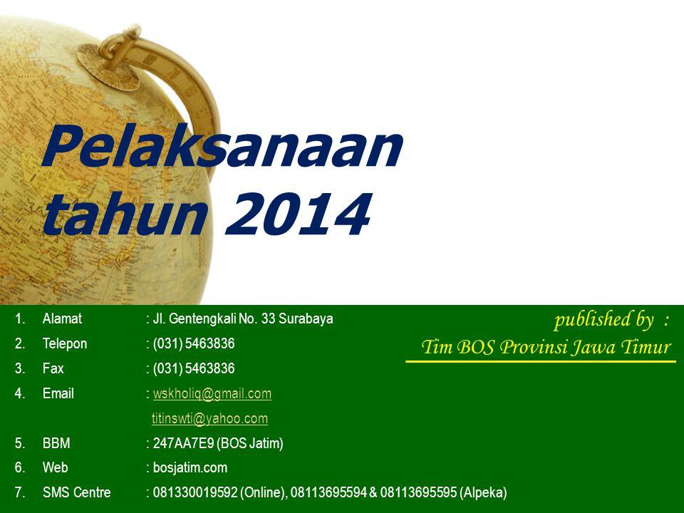 Pelaksanaan tahun 2014 published by : Tim BOS Provinsi Jawa Timur