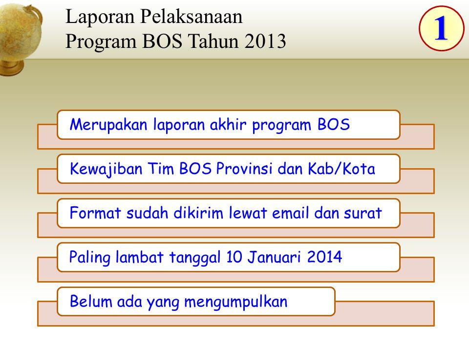 1 Laporan Pelaksanaan Program BOS Tahun 2013