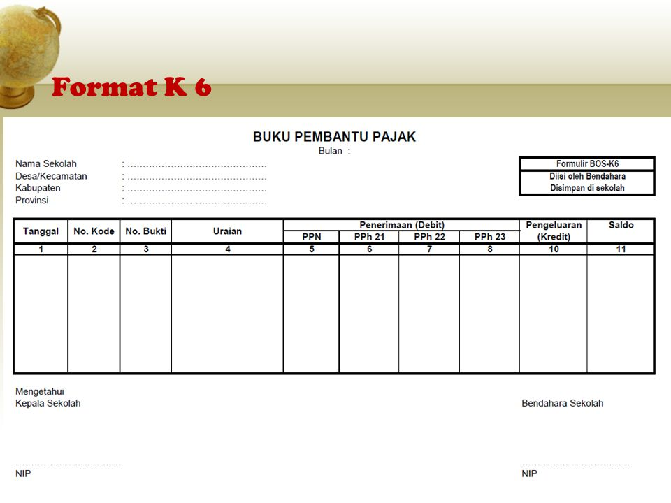 Format K 6