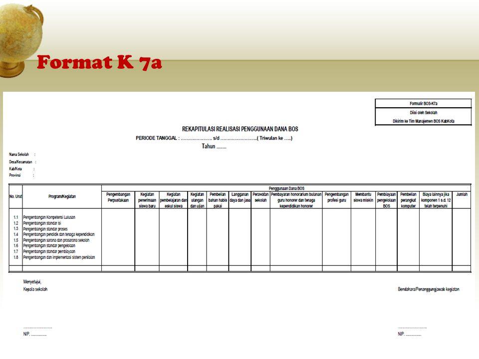 Format K 7a