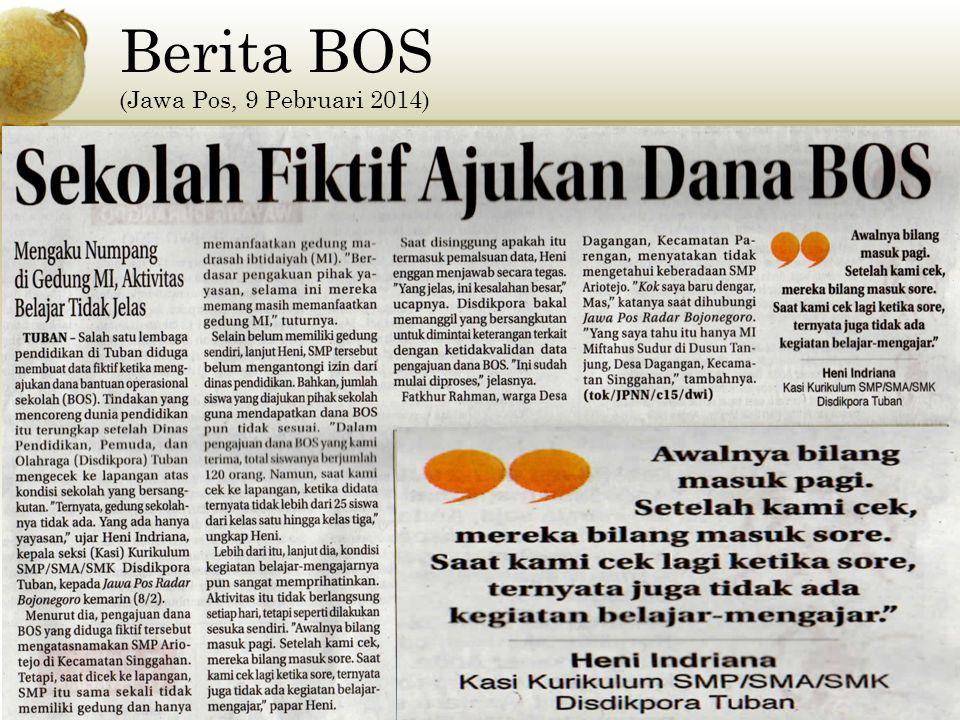 Berita BOS (Jawa Pos, 9 Pebruari 2014)