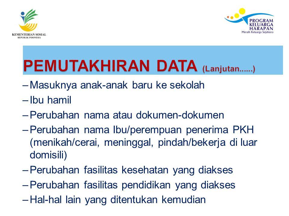 PEMUTAKHIRAN DATA (Lanjutan......)