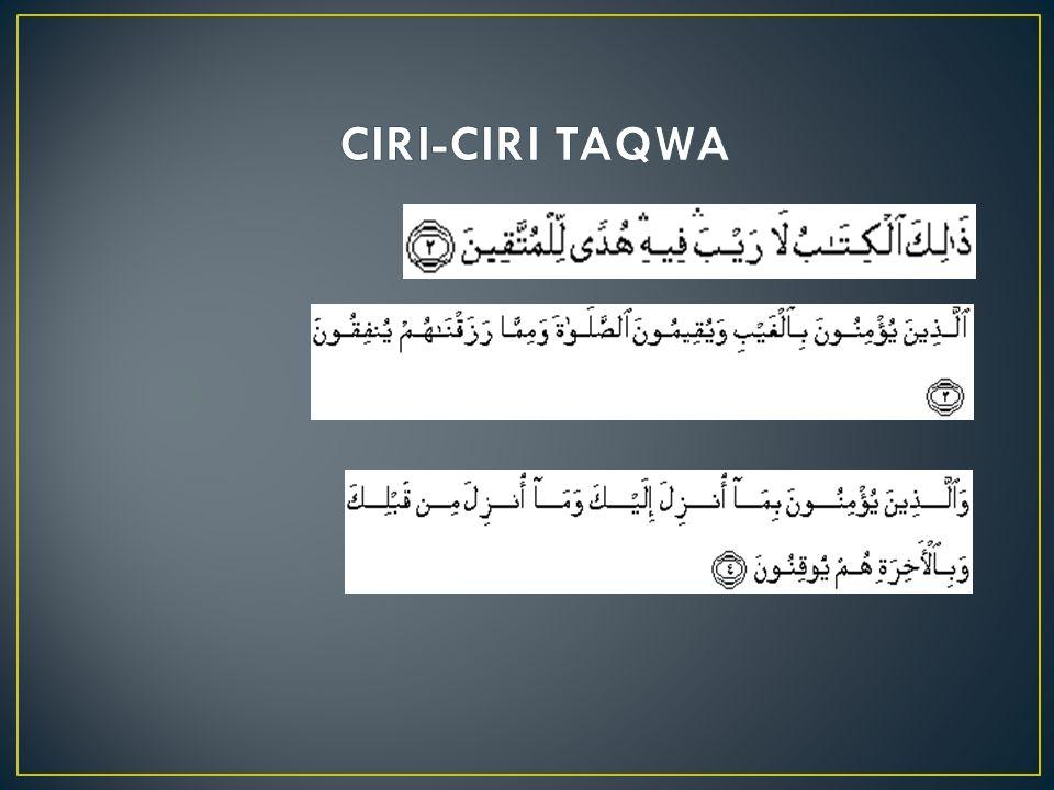 CIRI-CIRI TAQWA