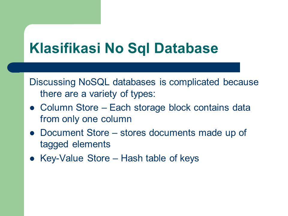 Klasifikasi No Sql Database