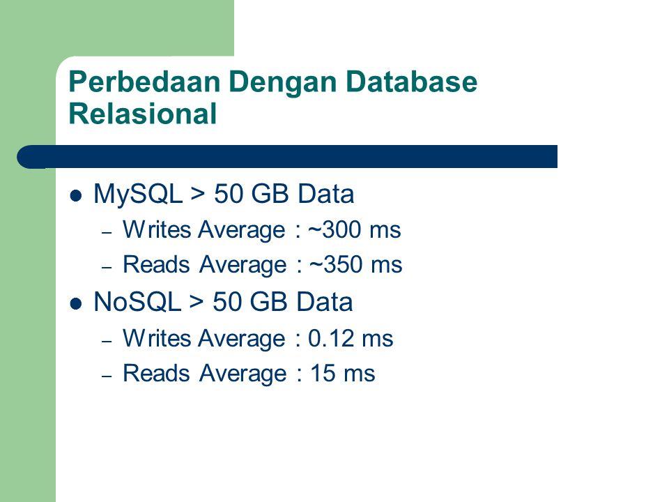 Perbedaan Dengan Database Relasional